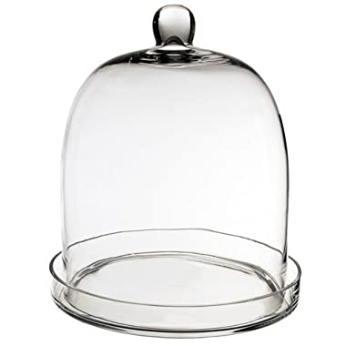 CYS GCL110/14 Cloche Bell Glass Dome with Tray, 14