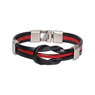 AUTHENTIC HANDMADE Leather Bracelet, Men Women Wristbands Braided Bangle Craft Multi [SKU003164]