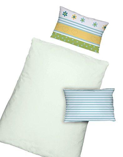 Dormisette Kinderbettwäsche Babybettwäsche zartes mintgrün 100x135 (5092) Made in Germany