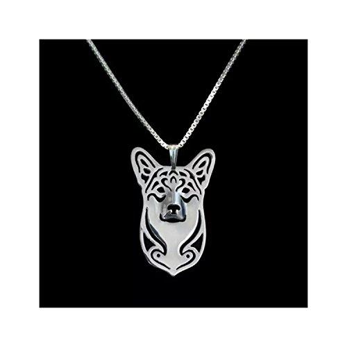 Pembroke Welsh Corgi Dog Necklace Silver-Tone