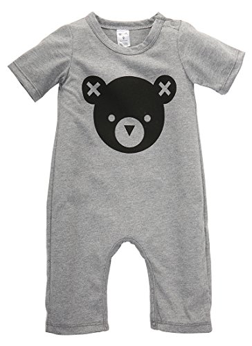 2016 Newborn Baby Girls Boy Bear Romper Playsuit Outfits Cotton Clothes 0-24M (12-18 Months, Gray)