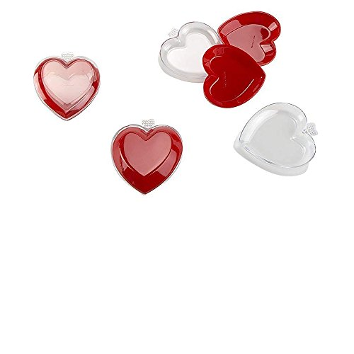 Closeoutservices Plastic Heart Box, Cute Mini Heart Shaped Box Used As Heart Shaped Plastic Package. Package of 24. ()