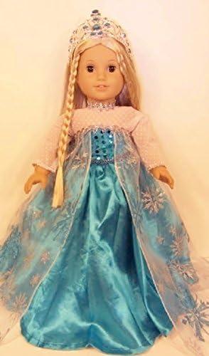 Amazon.com: Elsa Princesa Disfraz de Frozen para 18 inch ...