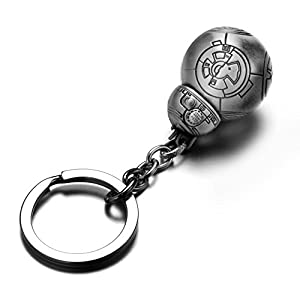 REINDEAR Star Wars BB-8 Droid Metal Pendant Keychain US Seller (Pewter)
