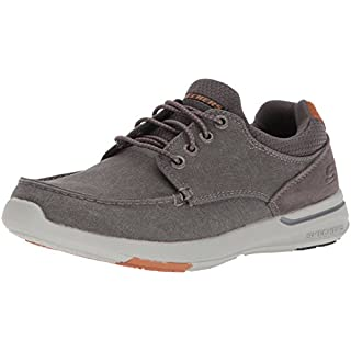Skechers Men's Relaxed Fit-Elent-Mosen Boat Shoe,charcoal,10 Extra Wide US
