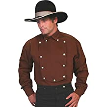 Scully Brushed Twill Cotton Bib Mens Shirt - Brown