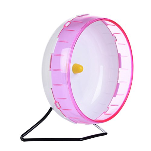 Petacc Hamster Exercise Wheel Hamster Toy Small Animal Wheel with Holder, 8'' Diameter (Pink) by Petacc (Image #3)
