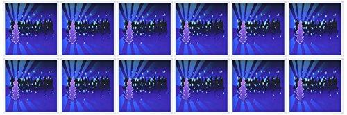3dRose árboles de Navidad en tonos azules – Tarjetas de felicitación, 15,24 x 15,24 cm, juego de 12 (gc_8034_2)