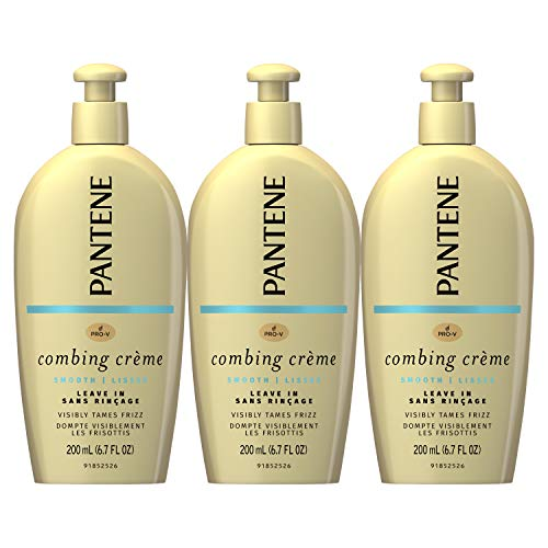 (Pantene, Combing Cream, Pro-V Smooth Nutrient Boost, Tame Frizz and Block Humidity, 6.7 Fl Oz, Triple Pack )