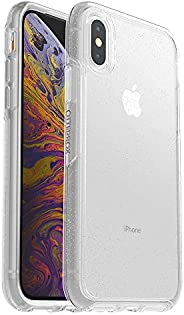 OtterBox SYMMETRY CLEAR SERIES Case for iPhone Xs & iPhone X - Retail Packaging - STARDUST (SILVER FLAKE/C