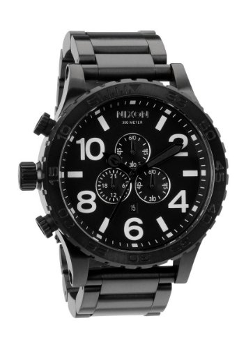 All Black The 51-30 Chrono by Nixon