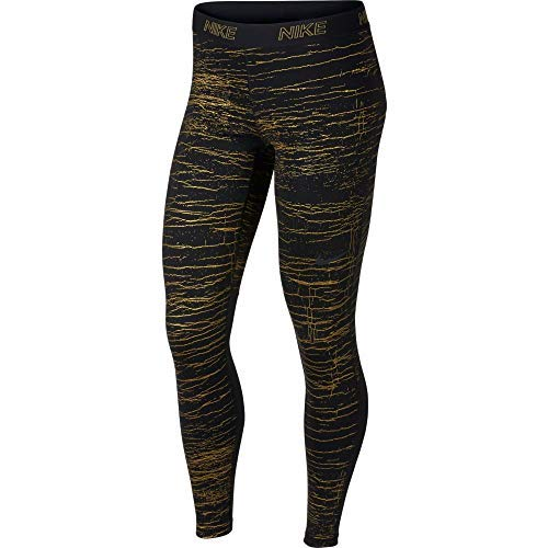Nike Women's Victory Warm Base Layer Tights (Black/Print, Medium) by Nike