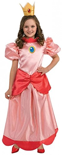 [Child Super Mario Bros Princess Peach Costume Size: Large (12-14)] (Mario Princess Peach Costumes)