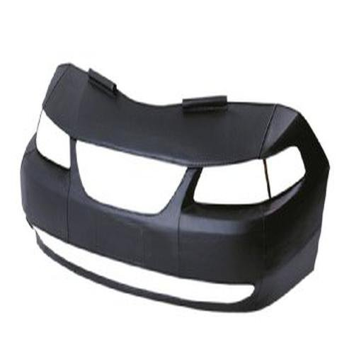 Lebra 2 piece Front End Cover Black - Car Mask Bra - Fits - CHEVROLET,CORVETTE,,,1984 thru 1990
