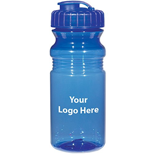 "Poly-Clear 20 Oz. Fitness Bottle With Super Sipper Lid - 100 Quantity - $1.85 Each - PROMOTIONAL PRODUCT / BULK / BRANDED with YOUR LOGO / CUSTOMIZED. Size: Approx 7-1/2"" Tall x 3""Diameter"