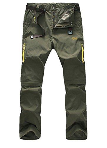 Rei Rain Pants - Geval Men's Windproof Quick Drying Outdoor Pants(Army Green,ASIAN 3XL, US-L)