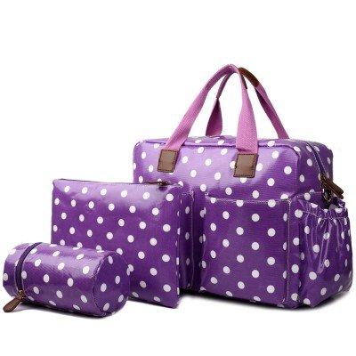 De Lujo 4 Piezas de productos Miss Lulu de hule bolsa cambiador de Hospital/Maternidad para Madre y bebé (Morado, diseño de lunares, limpiar) - Entrega ...