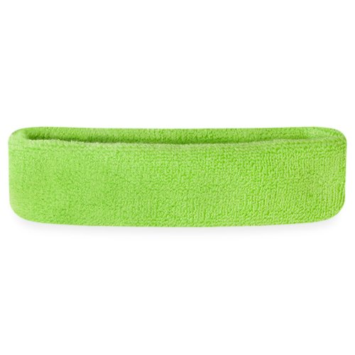 Suddora Headbands Head Sweatbands for Sports (Neon Green) (Mens Clothes From The 80s)