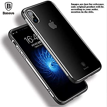 Trifty Baseus Crystal Clear Ultra Thin Back Cover for Samsung Galaxy A6 Plus   Black Cases   Covers