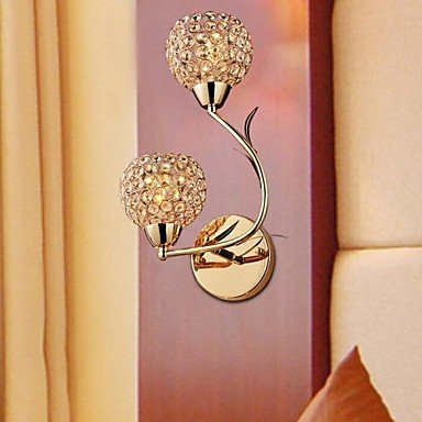 ZQ Creative Wall Sconces/Reading Wall Lights Crystal/Bulb Included Modern/Contemporary Metal , Warm White-110-120V