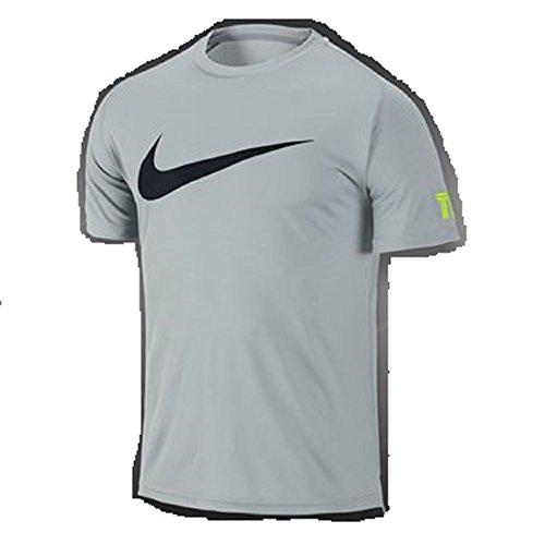 Nike Mens Dri-Fit Tennis Practice Crew T-Shirt Grey Mist X-Small 619811-076