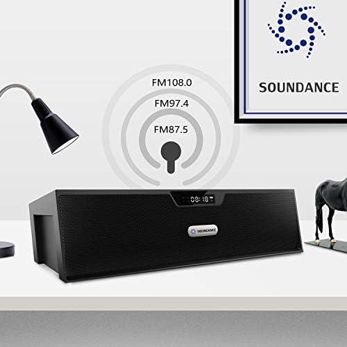 SANON Haut-Parleur sans Fil Bluetooth R/éveil Multifonction Radio FM Subwoofer Portable Horloge Num/érique