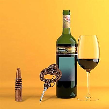 Sacacorchos 2 en 1 Abrebotellas de Cerveza Sacacorchos Abrelatas para Vino Diseño Vintage con Clase Accesorios Personalizados para Vino