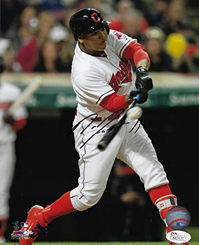 Jose Ramirez Cleveland Indians Signed 8X10 Photo with JSA COA