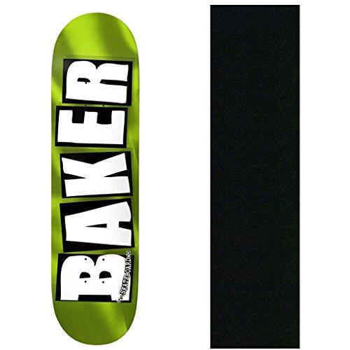Baker Skateboard Deck Brand Logo Green Foil 8.5
