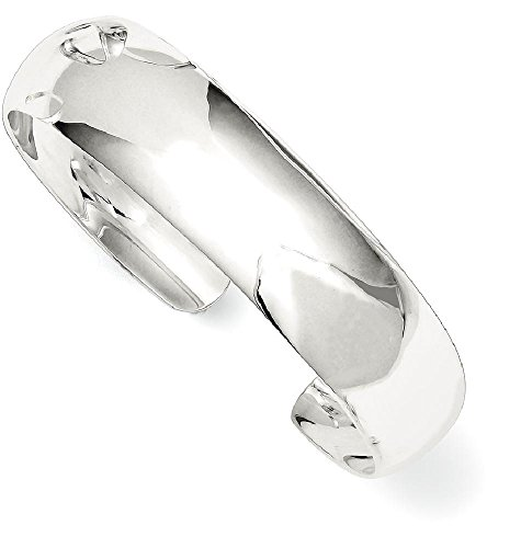 ICE CARATS 925 Sterling Silver 14mm Cuff Bangle Bracelet Expandable Stackable For Women by ICE CARATS
