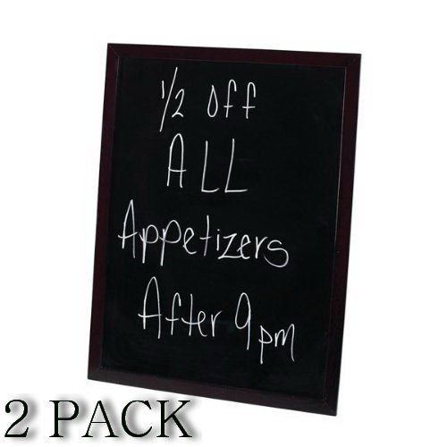 Winco MBB-3 Marker Board with Mahogany Frame, 32-Inch by 24-Inch, Set of 2 ()