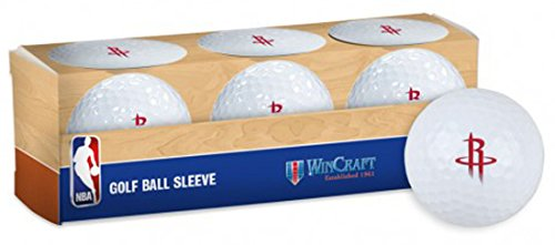 WinCraft NBA Houston Rockets Golf Ball Sleeve, pack of 3 individual golf balls by WinCraft