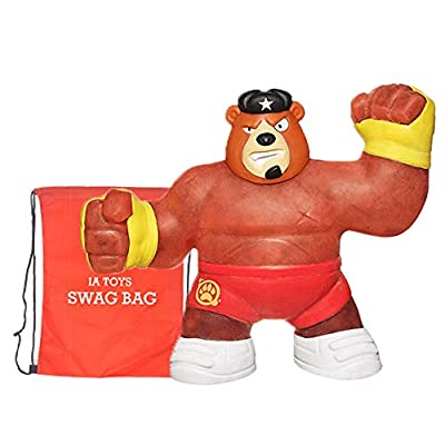 IP Heroes of Goo JIT Zu - Spongy Bear Action Figure, Brawler Bonus: (Swag Bag Stuffed with Extra Toys) for Kids Boys Girls Playtime and Family Fun: Home & Kitchen