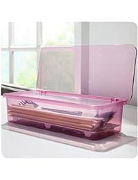 Investment 2015 New Storage Organizer Freezer Drawer Kitchen Desktop Refrigerator Case Cutlery Box (Pink) discount