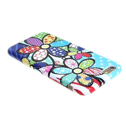 02# New Mode Style Bunt Blume Weich TPU Gel Haut Tasche Hülle Schale Schutzhülle Case Cover für Apple iPhone 6 4.7 Zoll