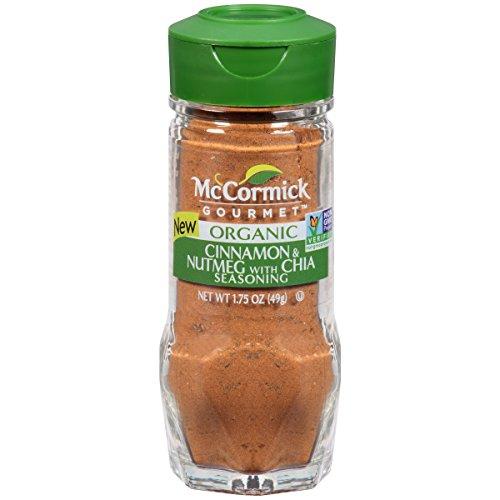 - McCormick Gourmet Cinnamon & Nutmeg With Chia, 1.75 oz