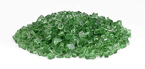 Hearth Products Controls (HPC 1/4 Inch Decorative Fire Glass (FPGLEVGRNREFL), 10 Pounds, Evergreen Reflective ()