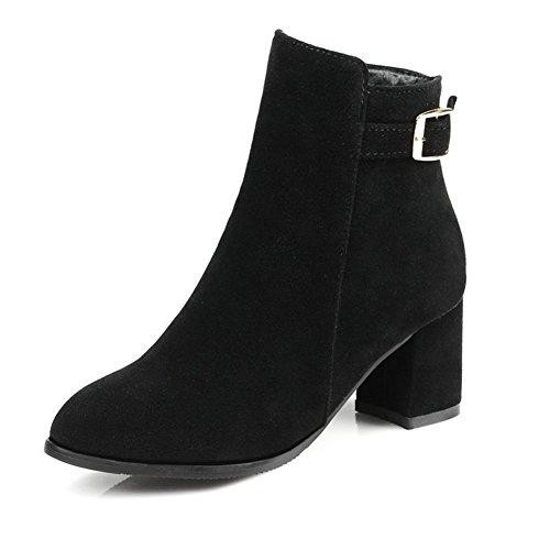 fibbia Belt Grigio HQuattro Beige tacco 38 stagioni H black Fashion antiscivolo gomma nero di stivali affilato donne C0X8nqw