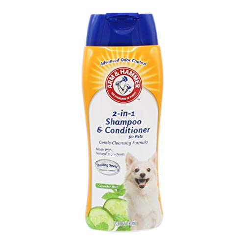 Arm & Hammer 2-In-1 Shampoo & Conditioner for Dogs | Dog Shampoo & Conditioner in One | Cucumber Mint, 20 oz 2in 1 Flea Shampoo