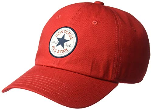 Converse Adult's Unisex Tipoff Chuck Patch Baseball Hat, Enamel red, OSFA