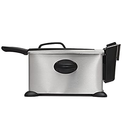 BELLA 3.5 Liter (14.5 Cups) Electric Deep Fryer, stainless steel