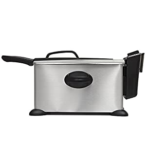 BELLA 3.5 Liter (14.5 Cups) Electric Deep Fryer, stainless steel : Will b sending BELLA 13401 3. 5L deep fryer