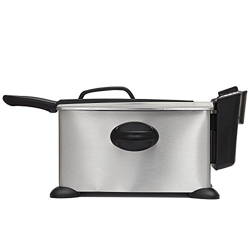 BELLA 13401 3.5 Liter (14.5 Cups) Electric Deep Fryer, stainless steel
