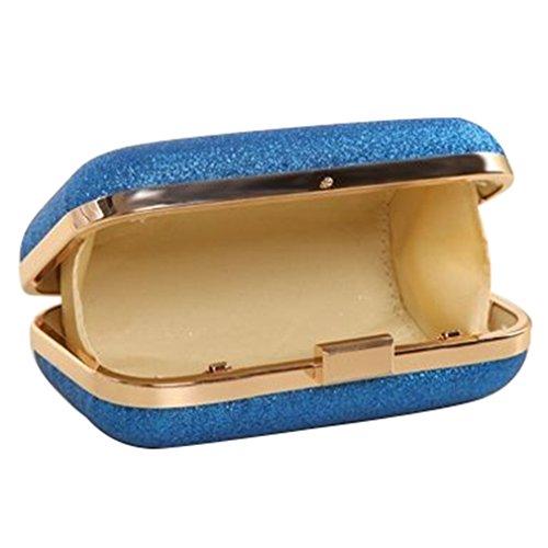Peacesea Mini Small Chain Women Gold Silver Evening Clutch Bags Blue