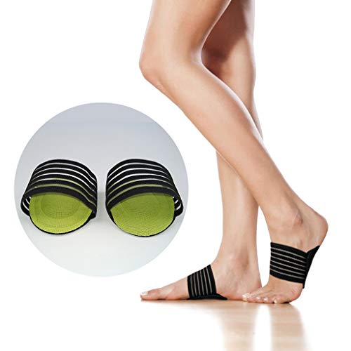 (Plantar Fasciitis Foot Arch Support Compression Sleeves Sports Protection (Black))