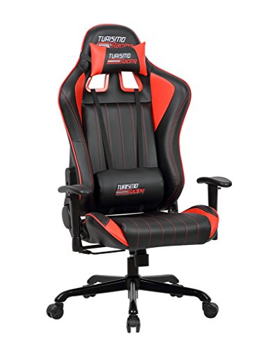 Cheap Turismo Racing Sovrano Series Gaming Chair BIG AND TALL – Black and Red – Seat has DUAL MEMORYFOAM System for Optimum Comfort in Gaming for BIG GUYS