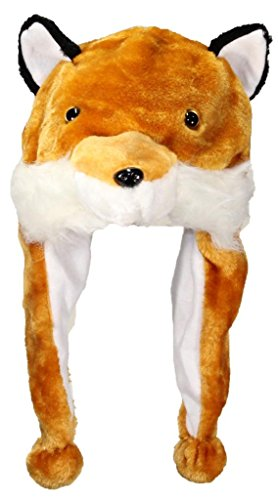 Best Winter Hats Adult/Teen Cartoon Animal Character Ear Flap (One Size) - Fox (Halloween Winter Park)