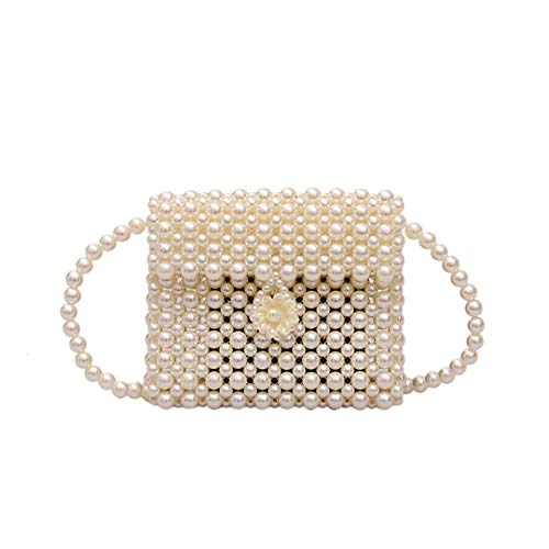 Pearl Bag Lady Bag Beaded Bag H -Woven Pearl Mini Cross Bag H bag Purses 1986-4 20cm19cm12cm