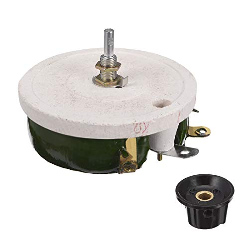 uxcell Wirewound Ceramic Potentiometer Variable Rheostat Resistor 200W 1K  Ohm with Knob