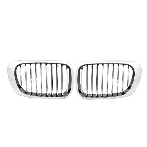 Chrome Front Kidney Grille Grill For BMW 3 Series E46 1999-2001 2-Doors